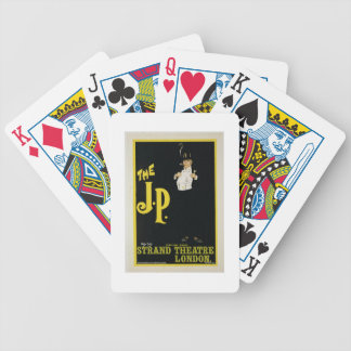 Reproduction of a poster advertising 'The J.P.' at Bicycle Playing Cards