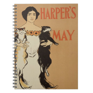 Reproduction of a poster advertising the May Issue Notebooks