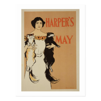 Reproduction of a poster advertising the May Issue Postcard