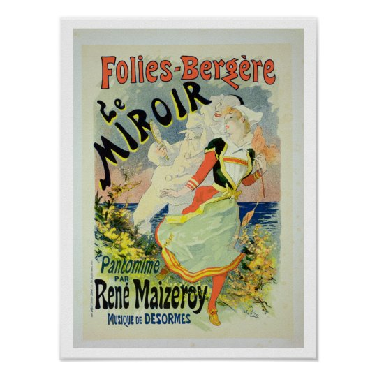 Reproduction of a poster advertising 'The Mirror',