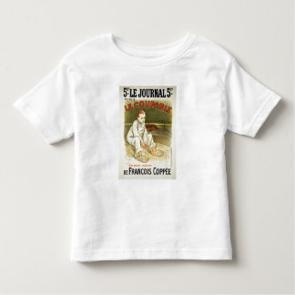 Reproduction of a poster advertising the novel 'Le Toddler T-shirt