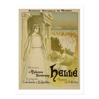 Reproduction of a poster advertising the opera 'He Postcard