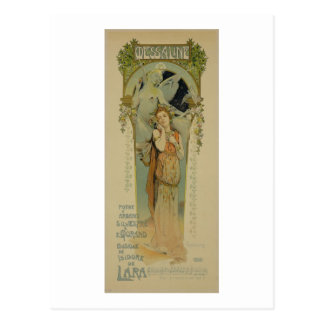 Reproduction of a poster advertising the opera 'Me Postcard