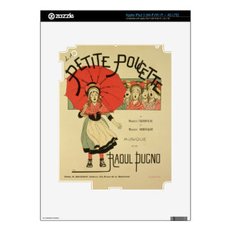 Reproduction of a poster advertising the operetta iPad 3 skins