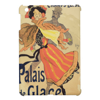 Reproduction of a poster advertising the 'Palais d iPad Mini Cases