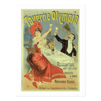 Reproduction of a poster advertising the 'Taverne Postcard