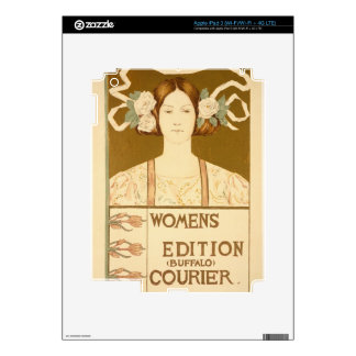 Reproduction of a poster advertising the 'Women's Decals For iPad 3