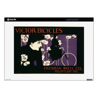 """Reproduction of a poster advertising 'Victor Bicyc 15"""" Laptop Decal"""