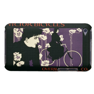 Reproduction of a poster advertising 'Victor Bicyc Barely There iPod Case