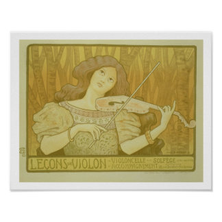 Reproduction of a poster advertising 'Violin Lesso