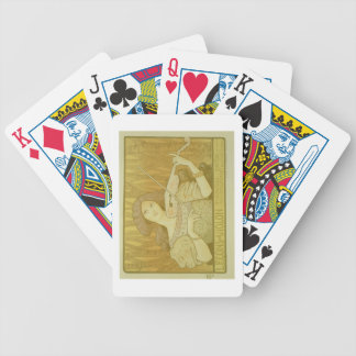 Reproduction of a poster advertising 'Violin Lesso Bicycle Playing Cards