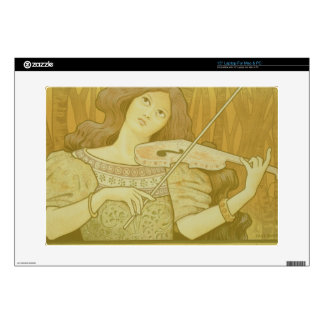 Reproduction of a poster advertising 'Violin Lesso Skin For Laptop