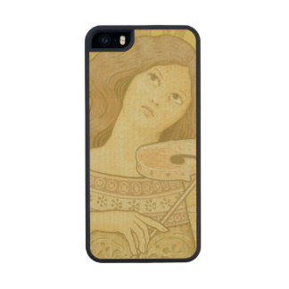 Reproduction of a poster advertising 'Violin Lesso Carved® Maple iPhone 5 Slim Case