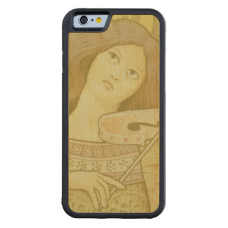 Reproduction of a poster advertising 'Violin Lesso Carved® Maple iPhone 6 Bumper Case