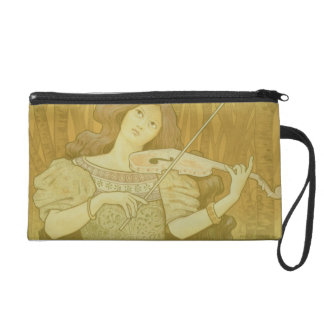 Reproduction of a poster advertising 'Violin Lesso Wristlet Purse