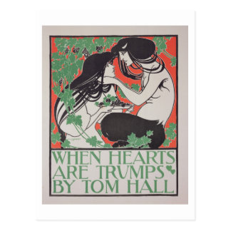 Reproduction of a poster advertising 'When Hearts Postcard