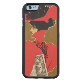 Reproduction of a poster advertising 'Zlata Praha' Carved® Maple iPhone 6 Bumper Case