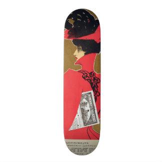 Reproduction of a poster advertising 'Zlata Praha' Skateboard Deck