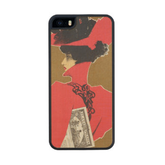 Reproduction of a poster advertising 'Zlata Praha' Wood iPhone SE/5/5s Case