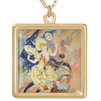 Reproduction of a poster for a pantomime, 1891 (co square pendant necklace