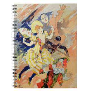 Reproduction of a poster for a pantomime, 1891 (co spiral note book