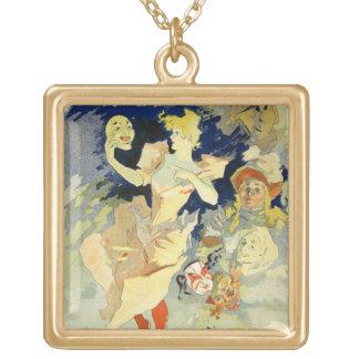 Reproduction of 'La Danse', 1891 (litho) Square Pendant Necklace