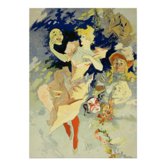 Reproduction of 'La Danse', 1891 (litho) Poster