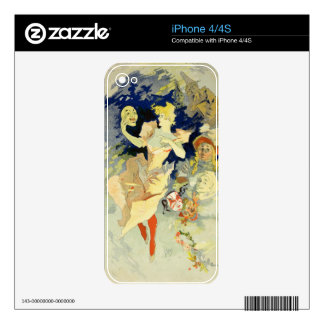 Reproduction of 'La Danse', 1891 (litho) Skin For The iPhone 4