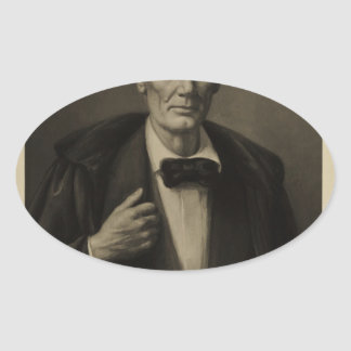 [Reproduction of oil painting by Williams Oval Sticker