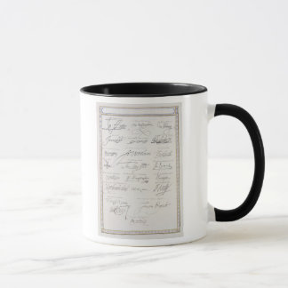 Reproduction of Signatures of the Tudors and their Mug