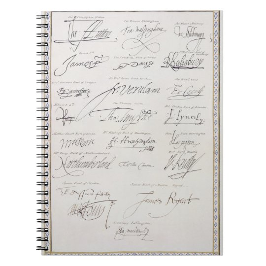 Reproduction of Signatures of the Tudors and their Notebook