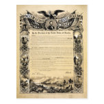 Reproduction of the Emancipation Proclamation Postcard