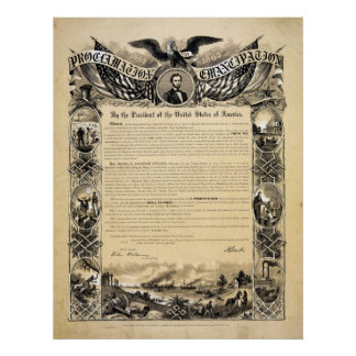 Reproduction of the Emancipation Proclamation Poster