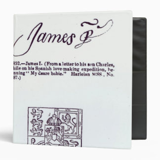 Reproduction of the signature of James VI and Binder