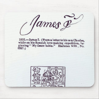 Reproduction of the signature of James VI and Mouse Pad