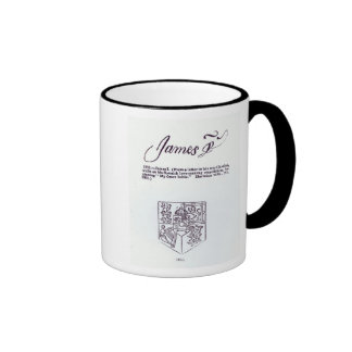 Reproduction of the signature of James VI and Ringer Coffee Mug