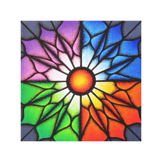 Reproduction on fabric of coloured Fleur work Canvas Print