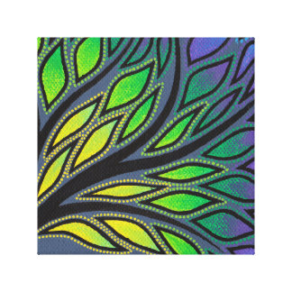 Reproduction on fabric of work Branches Canvas Print