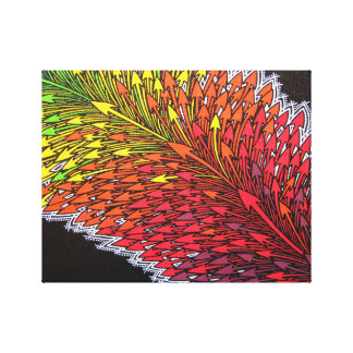 Reproduction on fabric of work Deviation Canvas Print