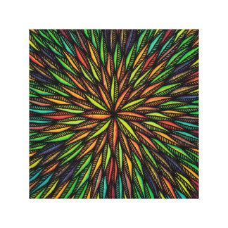 Reproduction on fabric of work Festive Canvas Print