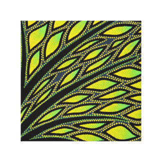 Reproduction on fabric of work Foliage Canvas Print