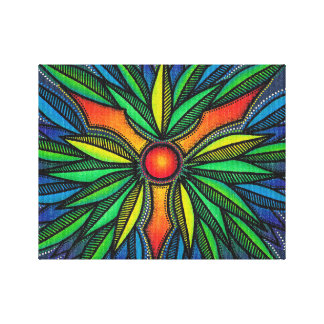 Reproduction on fabric of work Masks abstract Canvas Print