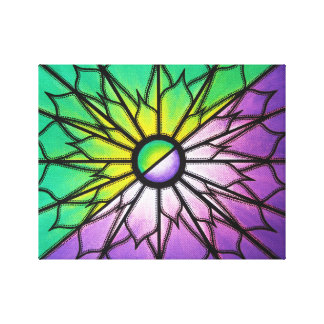 Reproduction on fabric of work Purple & Green Canvas Print