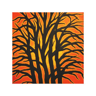 Reproduction on fabric of work sunny Tree Canvas Print