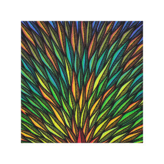 Reproduction on fabric of work Tropical Canvas Print