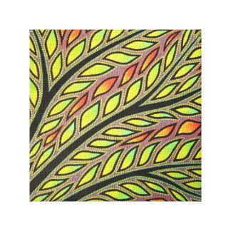 Reproduction on fabric of work Vegetation Canvas Print