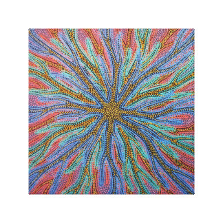 Reproduction on fabric of work Virus Canvas Print