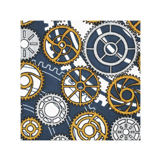 Reproduction on fabric of work Wheel Canvas Print