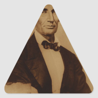 [Reproduction print of Lincoln with signature inse Triangle Sticker