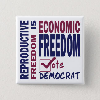 Reproductive Freedom Pinback Button